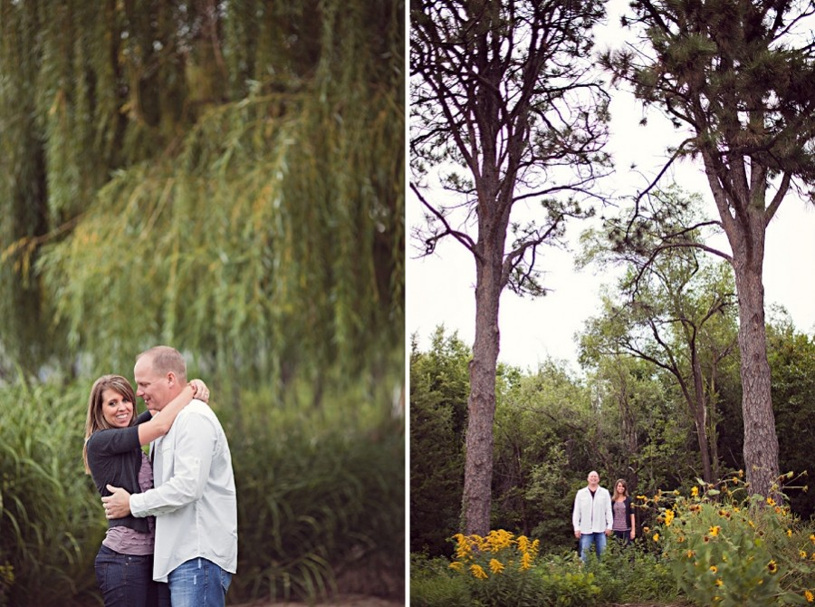 Willow and pine trees - engagement