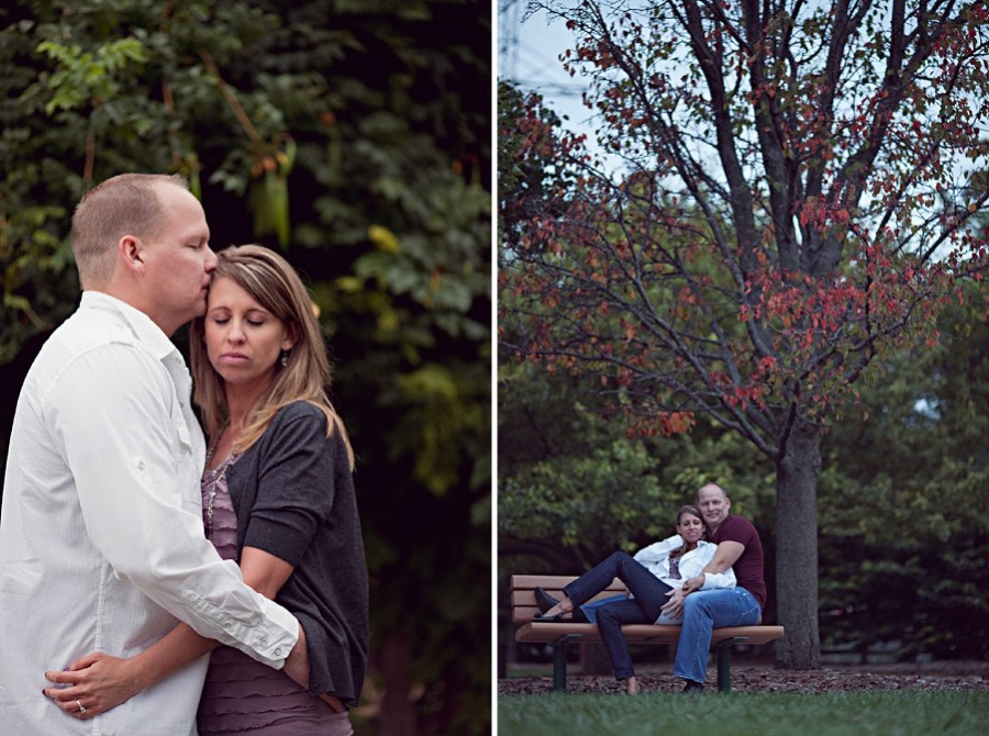 Bench + Engagement photos = awesome
