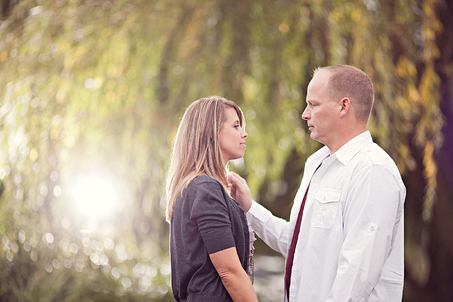Willow tree engagement photography