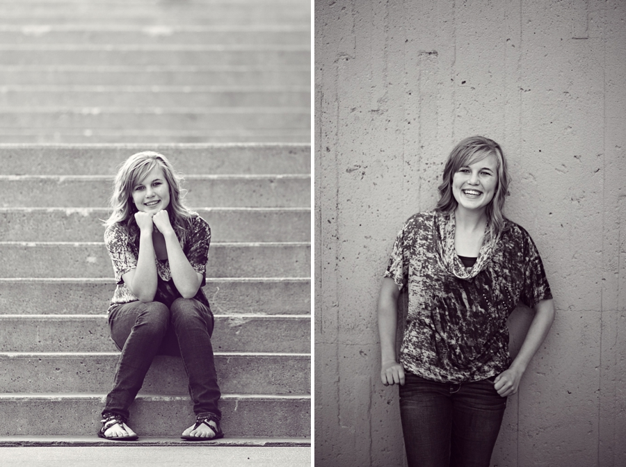 B&W Senior photos