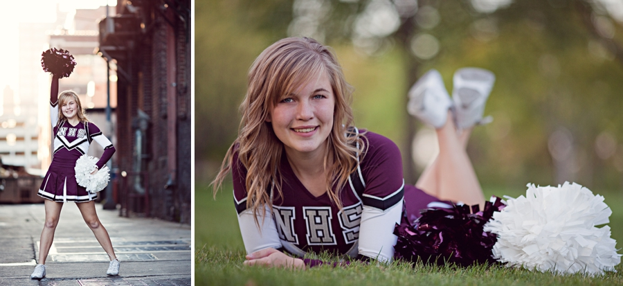 Cheerleader Senior Photos