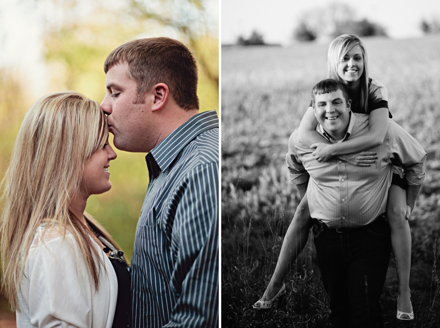 engagement photo diptych