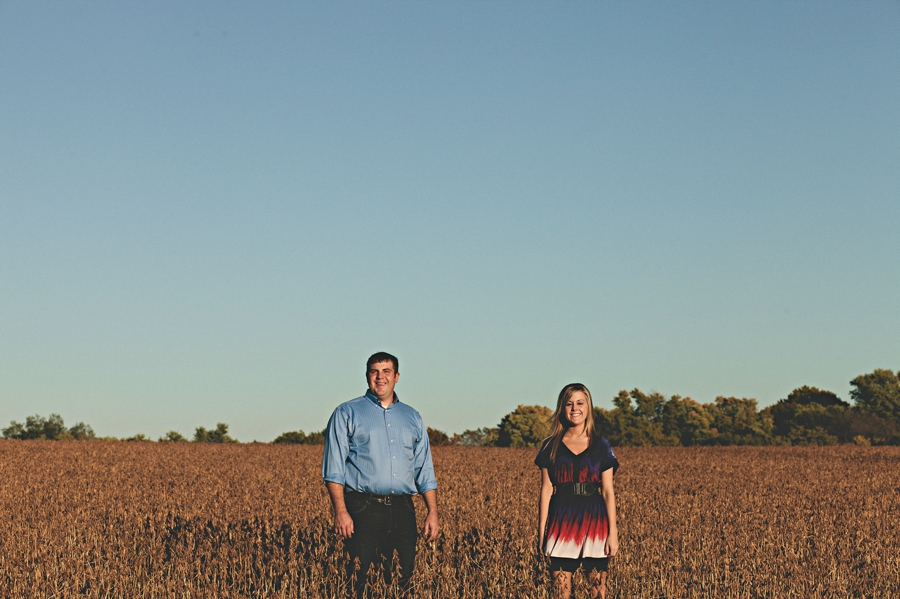 engagement photo in soy beans