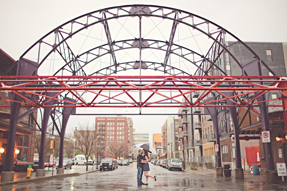 Downtown Des Moines Engagement Photography