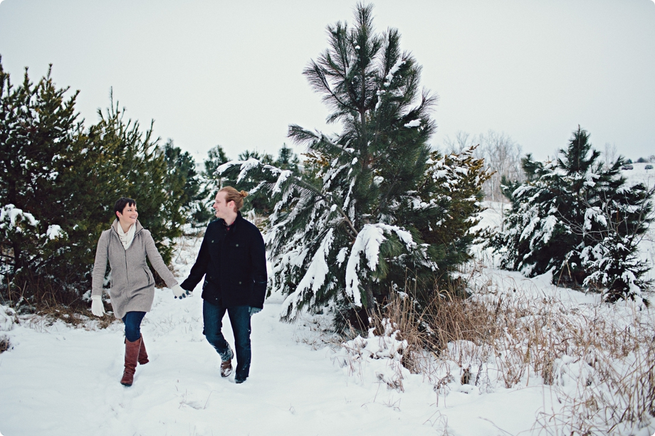 Omaha Engagement Photos in the snow