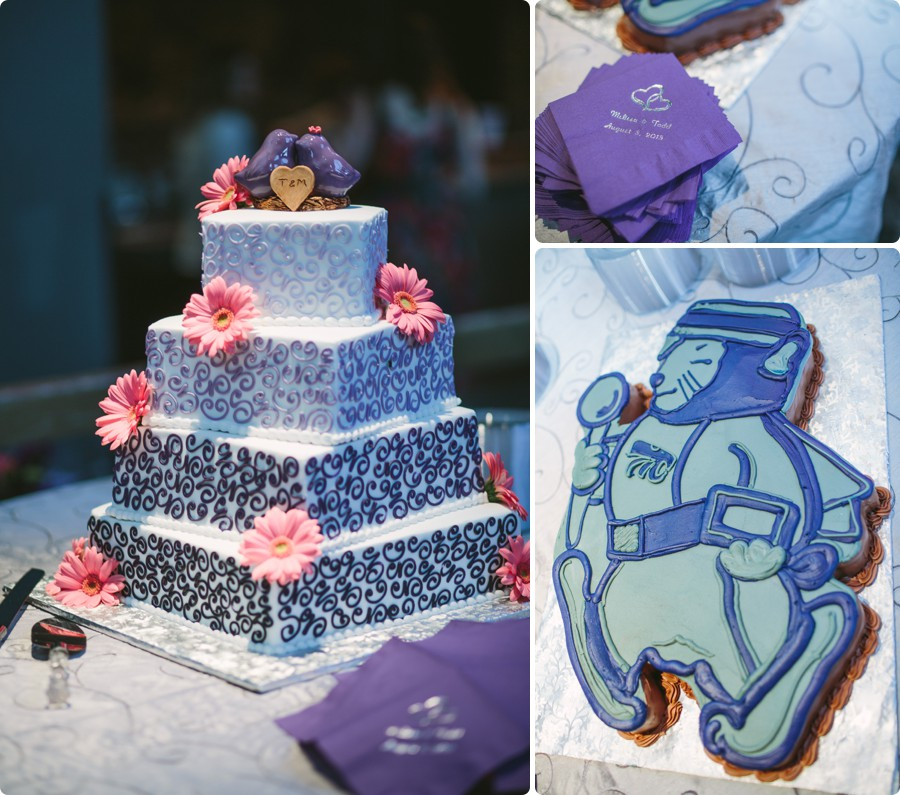 wedding cake - Wedding Photography Omaha Henry Doorly Zoo - Melissa and Todd
