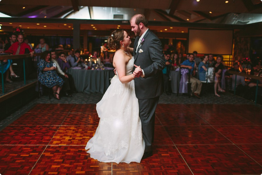 Bride and Groom first dance - Wedding Photography Omaha Henry Doorly Zoo - Melissa and Todd