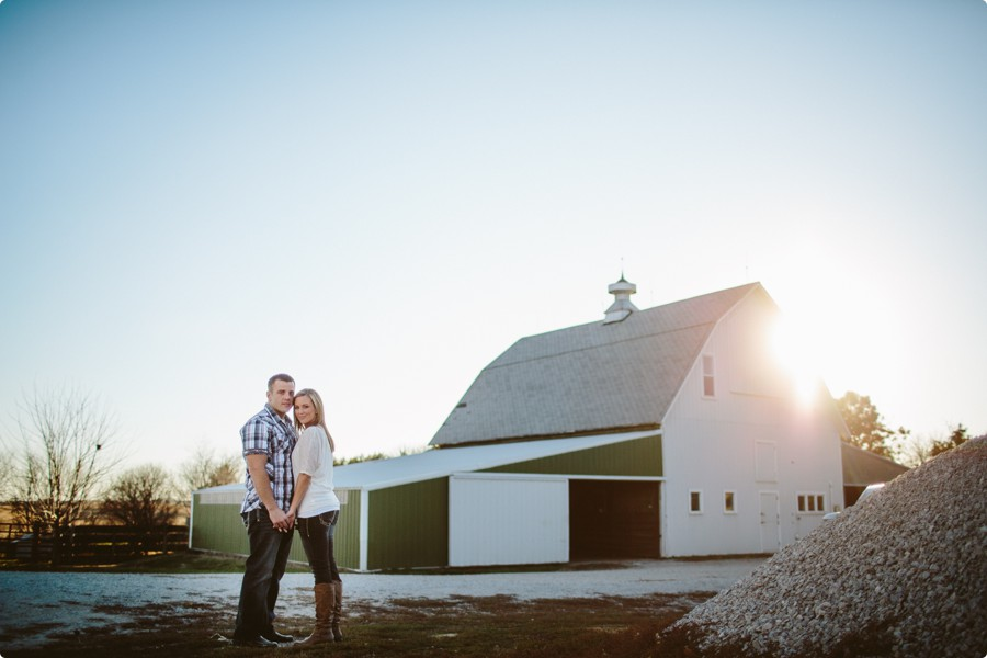 Omaha Engagement Photography on a Farm